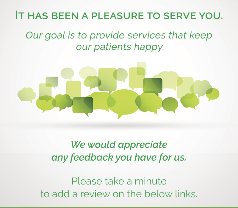 We would appreciate hearing any feedback you may have for us.