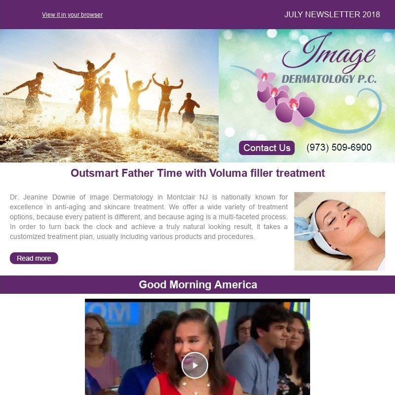 Dermatologist Newsletter Montclair NJ - Monthly Specials
